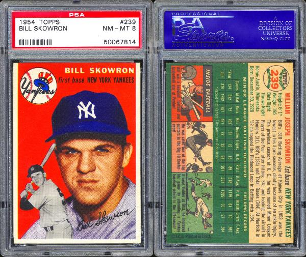 1954 Topps #239 Bill Skowron PSA 8 NM-MT