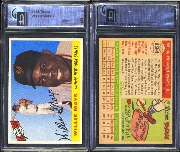 1955 Topps #194 Willie Mays GAI 9 MINT