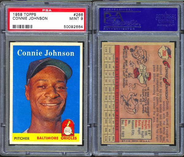 1958 Topps #266 Connie Johnson PSA 9 MINT