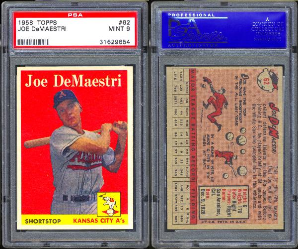 1958 Topps #62 Joe DeMaestri PSA 9 MINT