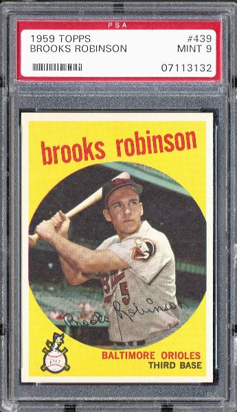 1959 Topps #439 Brooks Robinson PSA MINT 9