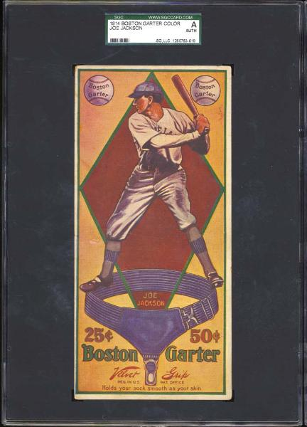 1914 Boston Garter Color Joe Jackson SGC Authentic