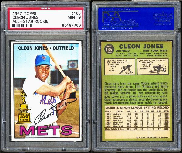 1967 Topps #165 Cleon Jones All-Star Rookie PSA MINT 9