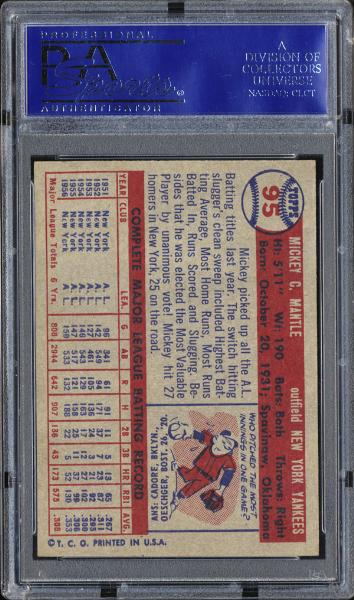 1957 Topps #95 Mickey Mantle PSA 8.5 NM/MT+