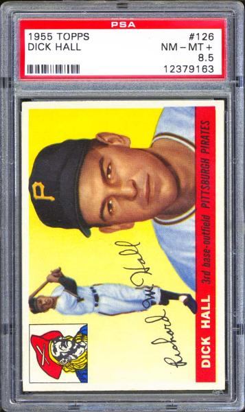 1955 Topps #126 Dick Hall PSA 8.5 NM/MT+