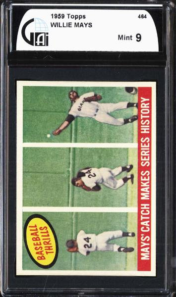 1959 Topps #464 Willie Mays GAI 9 MINT