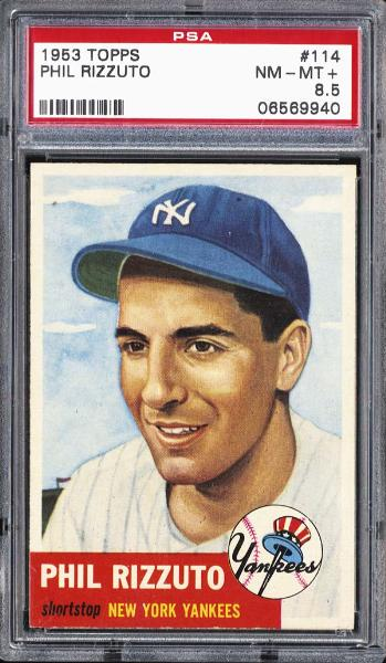 1953 Topps #114 Phil Rizzuto PSA NM-MT+ 8.5