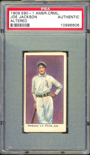 1909 E90-1 American Caramel Joe Jackson PSA Authentic