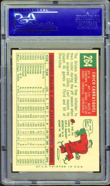 1959 Topps #264 Chico Carrasquel PSA 9 MINT