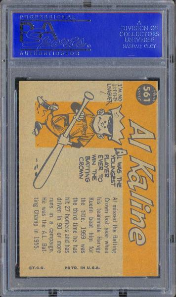 1960 Topps #561 Al Kaline All Star PSA 9 MINT