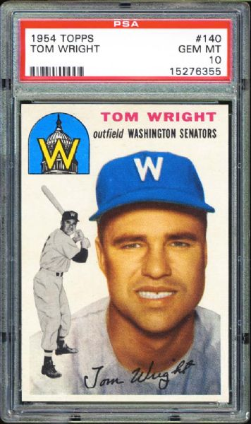 1954 Topps #140 Tom Wright PSA 10 GEM MINT
