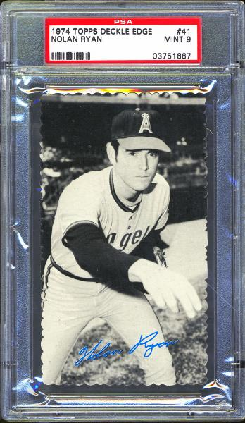 1974 Topps Deckle Edge #41 Nolan Ryan PSA 9 MINT