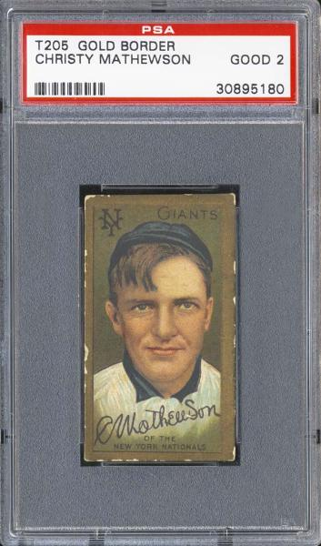1909-11 T205 Gold Border Christy Mathewson PSA 2 GOOD