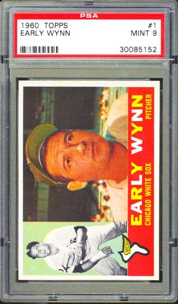 1960 Topps #1 Early Wynn PSA 9 MINT