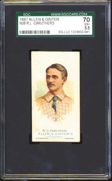 1887 N28 Allen & Ginter R.L. Caruthers SGC 70 EX+ 5.5