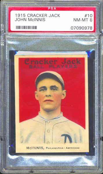 1915 Cracker Jack #10 John McInnis PSA 8 NM/MT