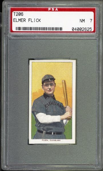 1909-11 T206 Elmer Flick PSA 7 NM