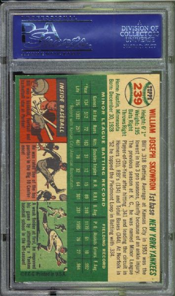1954 Topps #239 Bill Skowron PSA 8.5 NM/MT+