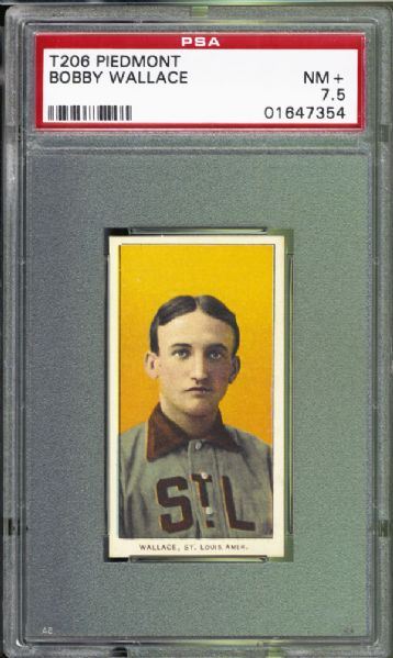 1909-11 T206 Bobby Wallace PSA 7.5 NM+