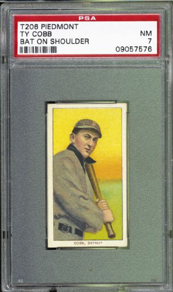 1909-11 T206 Ty Cobb Bat on Shoulder PSA 7 NM