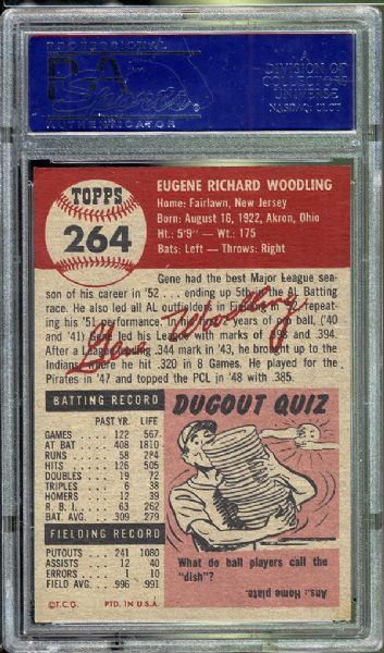 1953 Topps #264 Gene Woodling PSA 8 NM/MT