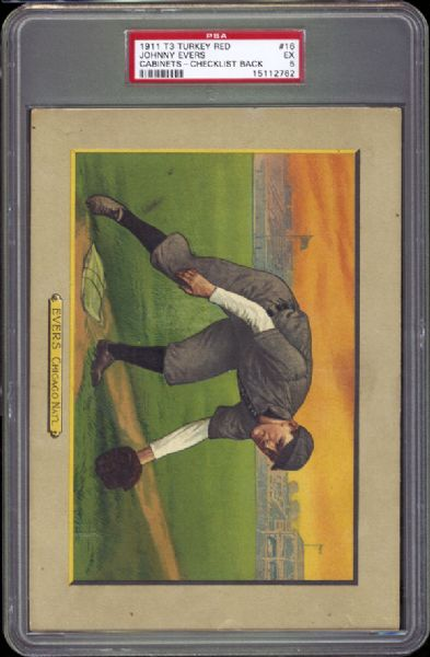 1911 T3 Turkey Red #16 Johnny Evers PSA 5 EX