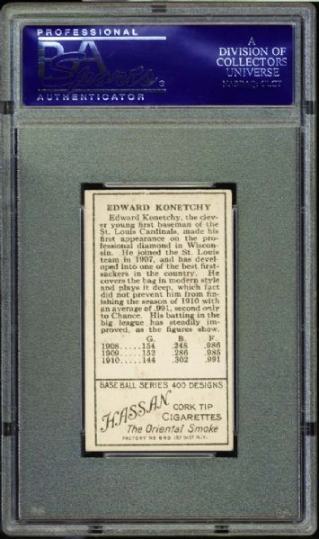 1911 T205 Gold Border Ed Konetchy PSA 7 NM