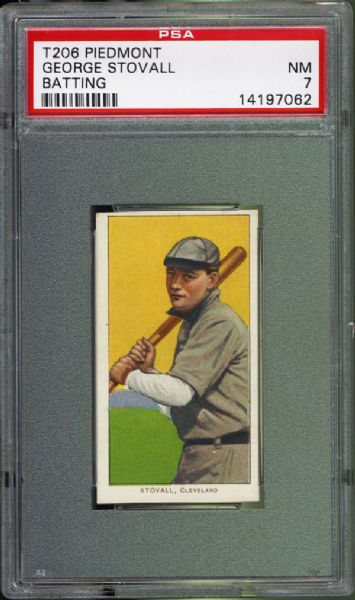 1909-11 T206 George Stovall Batting PSA 7 NM