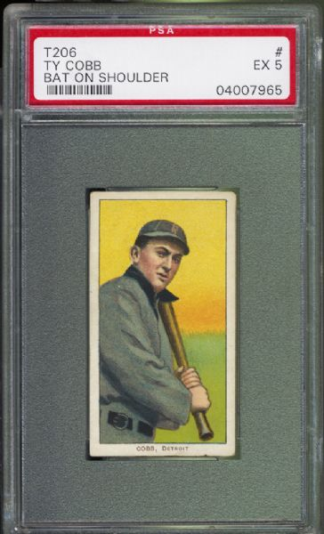 1909-11  T206 Ty Cobb Bat on Shoulder PSA 5 EX