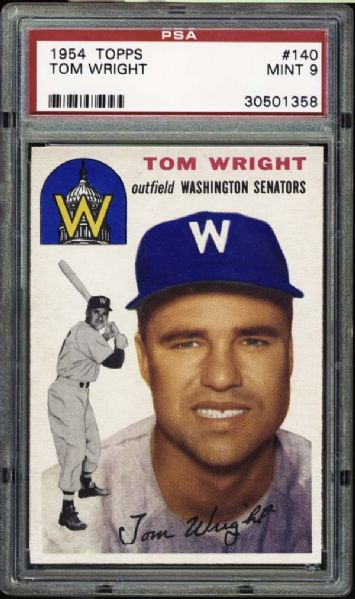 1954 Topps #140 Tom Wright PSA 9 MINT