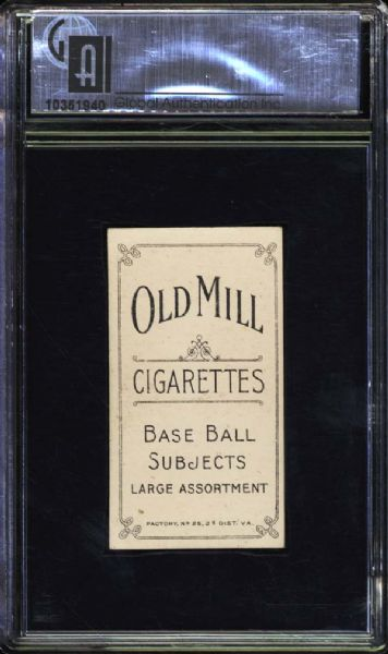 1909-11 T206 Old Mill Ty Cobb Red Portrait GAI 6.5 EX/MT+