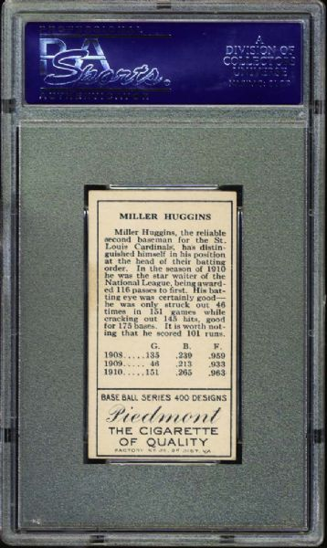 1911 T205 Gold Border Miller J. Huggins PSA 6.5 EX/MT+