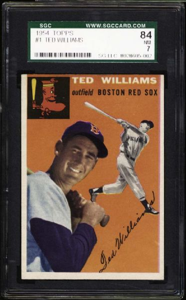 1954 Topps #1 Ted Williams SGC 84 NM 7