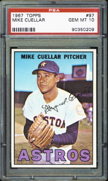 1967 Topps #97 Mike Cuellar PSA 10 GEM MINT