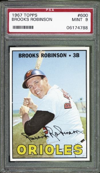 1967 Topps #600 Brooks Robinson PSA 9 MINT