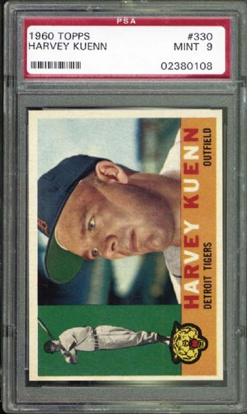 1960 Topps #330 Harvey Kuenn PSA 9 MINT
