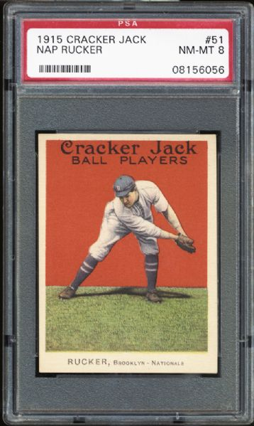 1915 Cracker Jack #51 Nap Rucker PSA 8 NM/MT