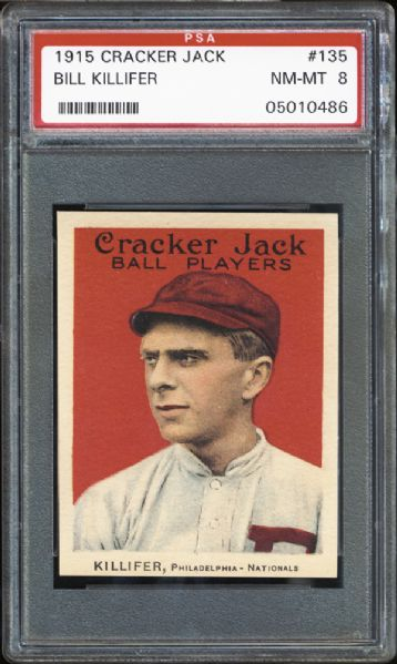 1915 Cracker Jack #135 Bill Killifer PSA 8 NM/MT