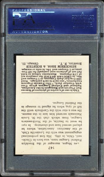 1915 Cracker Jack #147 Lee Magee PSA 8 NM/MT