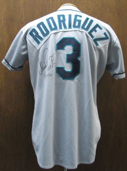 best authentic ea86c 245eb Lot Detail - 1996 Alex Rodriguez Game-Used Autographed ...