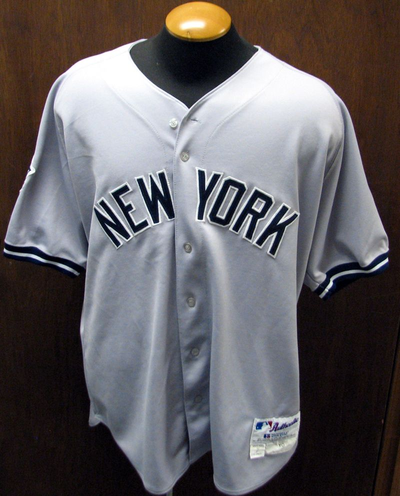 a08d5c16 2000 New York Yankees Roger Clemens World Series Game-Used Road Jersey ...
