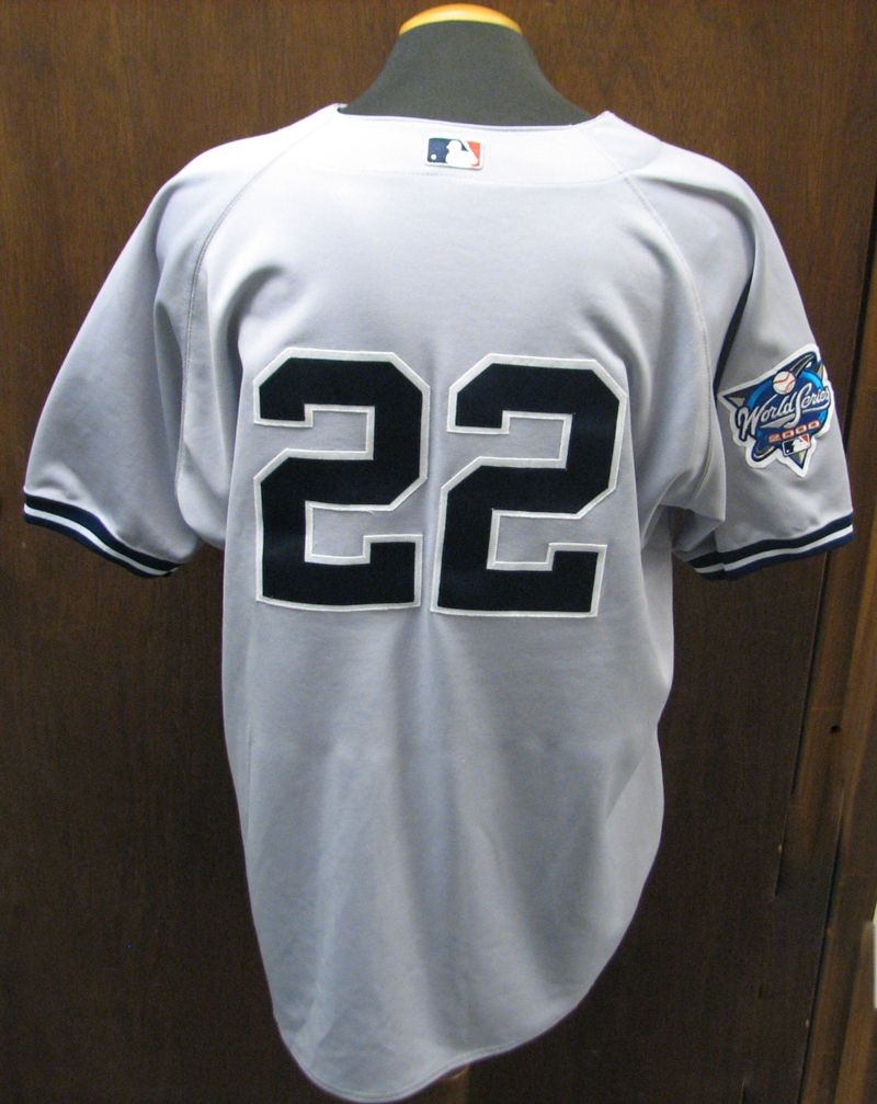 1acbf19a ... 2000 New York Yankees Roger Clemens World Series Game-Used Road Jersey  ...