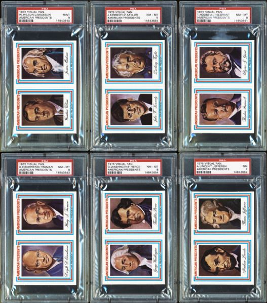 1975 Visual Panographics American Presidents Complete Set Completely PSA Graded