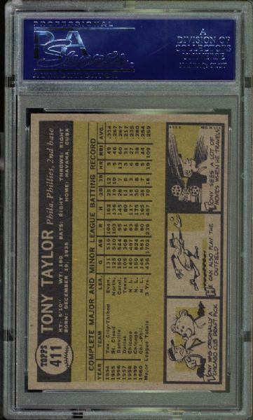 1961 Topps #411 Tony Taylor PSA 10 GEM MINT