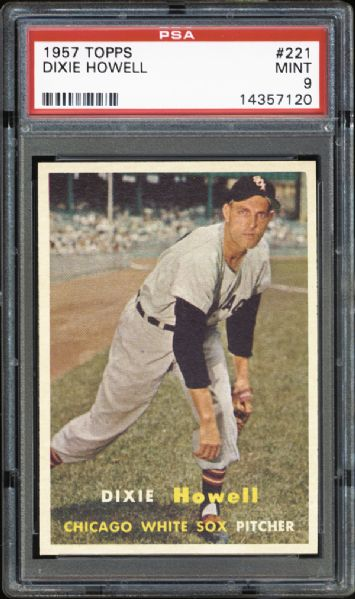 1957 Topps #221 Dixie Howell PSA 9 MINT