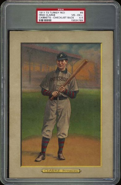 1911 T3 Turkey Red Fred Clarke PSA 4.5 VG/EX+