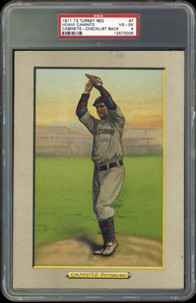 1911 T3 Turkey Red Howie Camnitz PSA 4 VG/EX