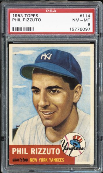 1953 Topps #114 Phil Rizzuto PSA 8 NM/MT