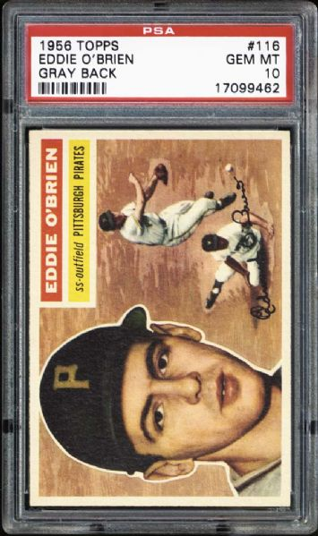 1956 Topps #116 Eddie O'Brien PSA 10 GEM MINT