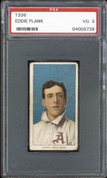vintage, t206, baseball, eddie plank